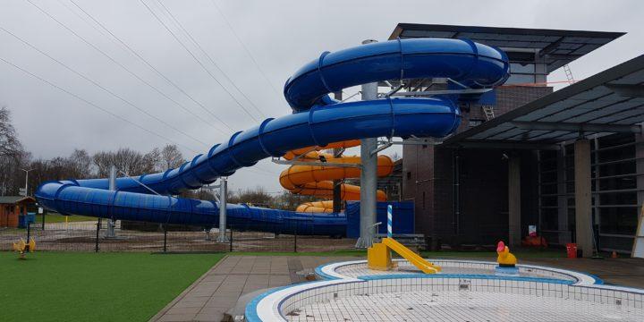 Bandenwaterglijbaan Ø1400 zwembad De Vallei Veenendaal